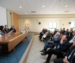 Incontro con categorie economiche e sindacati all'Istituto San Gaetano di Vicenza