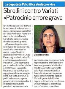 dal Giornale di Vicenza 24/1/2015